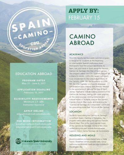 Camino Abroad Flyer