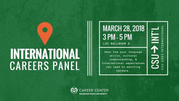 International Careers Panel Flyer