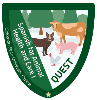 Badge for Spanish for Animal Health and Care